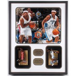 "LeBron James  Carmelo Anthony Signed ""Upper Deck Rivals"" 25x32x4.5 Limited Edition Custom Framed Sha"