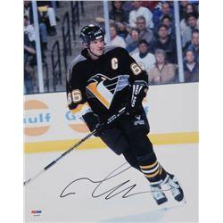 Mario Lemieux Signed Pittsburgh Penguins 11x14 Photo (PSA COA)