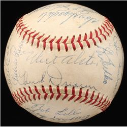 1958 Los Angeles Dodgers ONL Baseball Team Signed by (23) with Don Drysdale, Gil hodges, Duke Snider