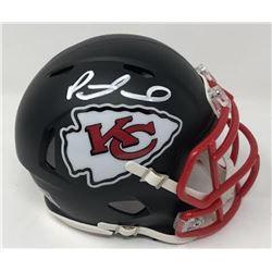 Patrick Mahomes Signed Chiefs Custom Matte Black Mini Speed Helmet (Fanatics Hologram)