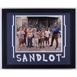 """The Sandlot"" Signed 18x22 Custom Framed Photo Display Cast-Signed by (6) With Tom Guiry, Marty York"