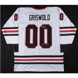"""Chevy Chase Signed """"Griswold Family Christmas"""" National Lampoon's Christmas Vacation Jersey (Beckett"""