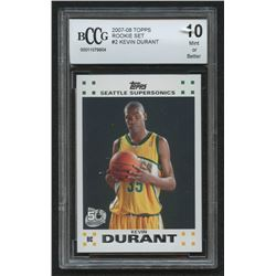 2007-08 Topps Rookie Set #2 Kevin Durant (BCCG 10)