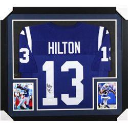 T. Y. Hilton Signed Indianapolis Colts 31x35 Custom Framed Jersey (JSA COA)