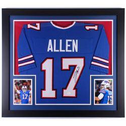 Josh Allen Signed Buffalo Bills 31x35 Custom Framed Jersey (JSA COA)