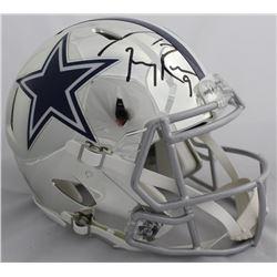 Tony Romo Signed Dallas Cowboys Full-Size Chrome Speed Helmet (Beckett COA)