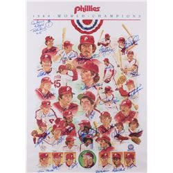 1980 Philadelphia Phillies World Champions 20x28 Team-Signed Poster by (32) with Mike Schmidt, Steve