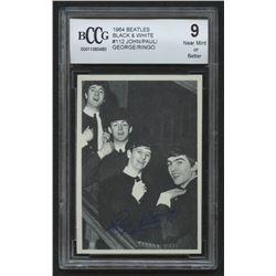 1964 Beatles Black and White #112 John / Paul / George / Ringo (BCCG 9)