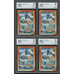 Lot of (4) 1990 Topps #414B Frank Thomas RC (BCCG 9)