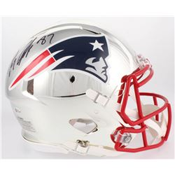 Rob Gronkowski Signed New England Patriots Full-Size Authentic On-Field Chrome Speed Helmet (Beckett