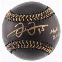 "Frank Thomas Signed OML Black Leather Baseball Inscribed ""HOF 2014"" (JSA COA)"