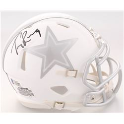 Tony Romo Signed Dallas Cowboys White ICE Speed Mini Helmet (Beckett COA)