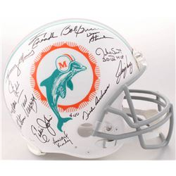 1972 Miami Dolphins Full-Size Authentic On-Field Helmet Team-Signed by (27) with Bob Griese, Jake Sc