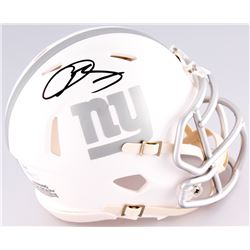 Odell Beckham Jr. Signed New York Giants Custom Matte White ICE Speed Mini Helmet (JSA COA)