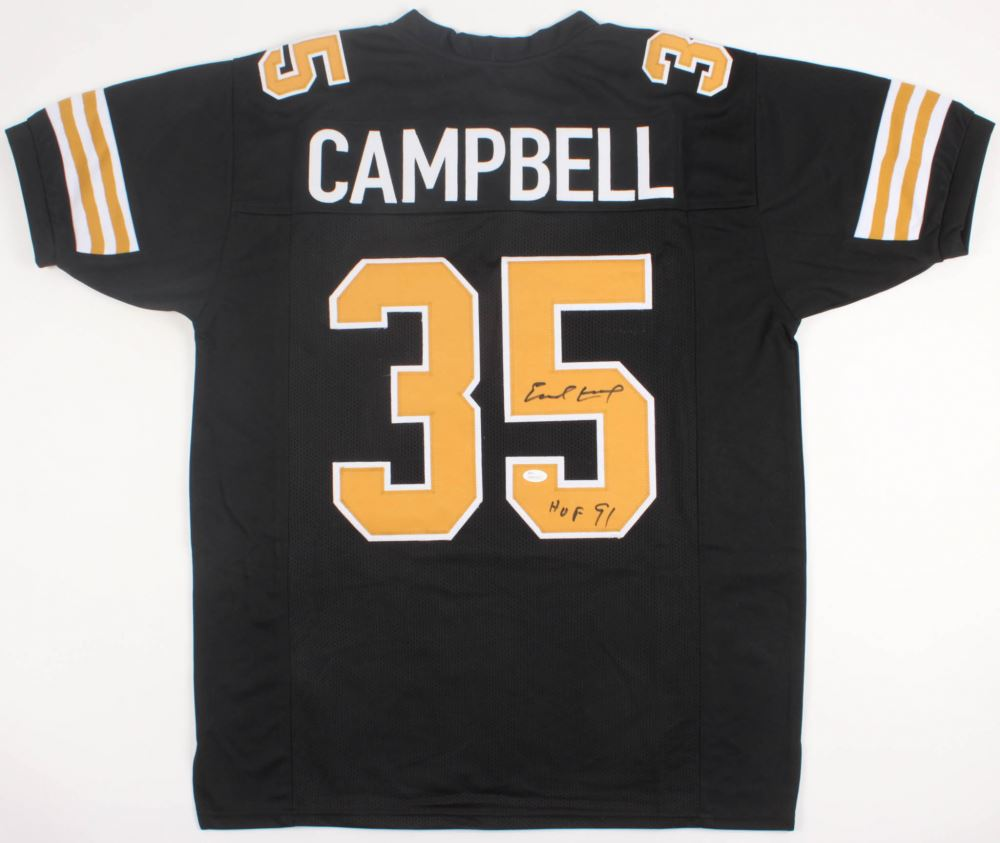 best service bbdc2 2b3ed Earl Campbell Signed New Orleans Saints Jersey Inscribed ...