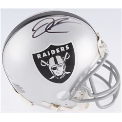 Derek Carr Signed Oakland Raiders Mini Helmet (Beckett COA)