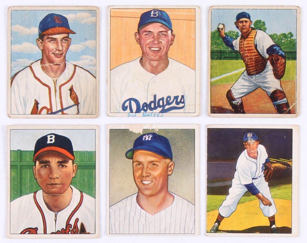 Lot Of 6 1950 Bowman Baseball Cards With 96 Virgil Trucks 144
