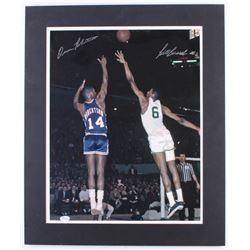 Bill Russell  Oscar Robertson Signed 20x24 Custom Matted Photo Display (JSA COA)