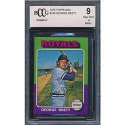 1975 Topps Mini #228 George Brett RC (BCCG 9)