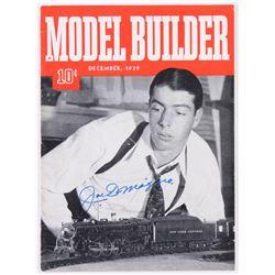Joe DiMaggio Signed Model Builder Magazine (JSA LOA)