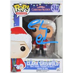 """Chevy Chase Signed """"Clark Griswold"""" #242 """"National Lampoon's Christmas Vacation"""" Funko Pop! Vinyl Fi"""