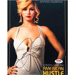 "Jennifer Lawrence Signed ""American Hustle"" 8x10 Photo (PSA COA)"