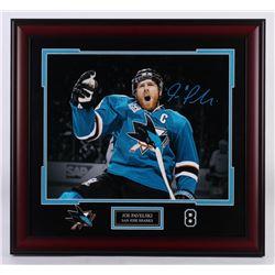 Joe Pavelski Signed San Jose Sharks 25x27 Custom Framed Photo Display (Pavelski Hologram)