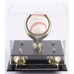 Ted Williams Signed Boston Red Sox OAL Baseball Display Case (UDA COA)