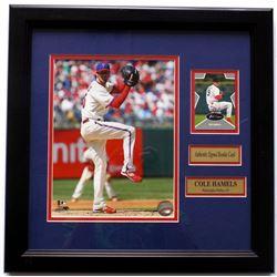 Cole Hamels Signed Philadelphia Phillies 11x14 Custom Framed Rookie Card Display (SI COA)