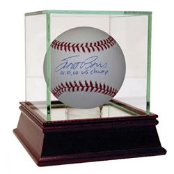 """Scott Brosius Signed Baseball Inscribed """"98, 99, 00 WS Champs"""" with High Quality Display Case (MLB H"""