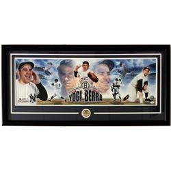 "Yogi Berra Signed New York Yankees 20x43 Custom Framed Panoramic Photo Inscribed ""HOF 72"" (JSA COA)"