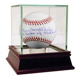 "Duke Snider Signed Baseball Inscribed ""Edwin Donald Snider, the Duke of Flatbush"" with High Quality"