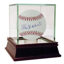 Stan Musial Signed Baseball with High Quality Display Case (Steiner COA)