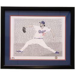 "Clayton Kershaw ""Word Art"" 22x27 Custom Framed Print Display"