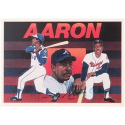 Hank Aaron Signed LE 1991 Upper Deck Aaron Heroes #27 CL (JSA COA)