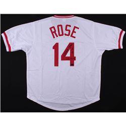 """Pete Rose Signed Cincinnati Reds Jersey Inscribed """"63 ROY"""" (Radtke COA)"""