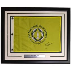 Jack Nicklaus Signed 20x25 Custom Framed Memorial Golf Tournament Pin Flag Display (PSA LOA)