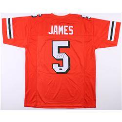Edgerrin James Signed Miami Hurricanes Jersey (Radtke COA)