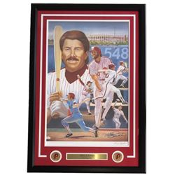 Mike Schmidt Signed Philadelphia Phillies 25x34 Custom Framed Lithograph Display (JSA COA)