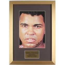 Muhammad Ali Signed 14.5x20 Custom Framed Photo Display (PSA LOA)