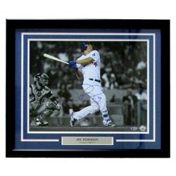 Joc Pederson Signed Los Angeles Dodgers 22x27 Custom Framed Photo Display (Beckett COA)