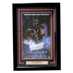 "Dave Prowse Signed ""Star Wars: Empire Strikes Back"" 18x25 Custom Framed Poster Display Inscribed ""Da"
