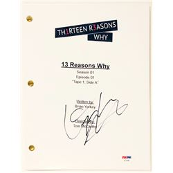 "Dylan Minnette Signed ""Thirteen Reasons Why"" Full Movie Script (PSA COA)"
