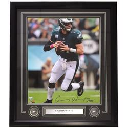 Carson Wentz Signed Philadelphia Eagles 22x27 Custom Framed Photo (Fanatics)