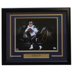 Jared Goff  Signed Los Angeles Rams 16x20 Custom Framed Photo Display (Fanatics Hologram)