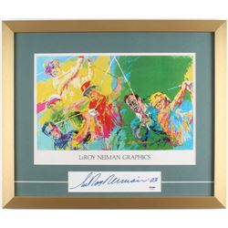 "LeRoy Neiman Signed 18x21.5 Custom Framed Cut Display Inscribed ""'03"" (PSA COA)"