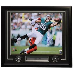 Zach Ertz Signed Philadelphia Eagles 22x27 Custom Framed Photo Display (JSA COA)