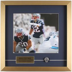 Tom Brady New England Patriots 18x18 Custom Framed Photo Display with Replica Ring