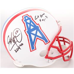 "Eddie George  Earl Campbell Signed Houston Oilers Full-Size Helmet Inscribed ""R.O.Y. 96"" ""HOF 91"" (J"