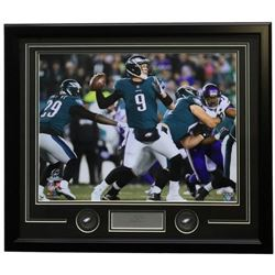Nick Foles Philadelphia Eagles 22x27 Custom Framed Photo with Laser Engraved Signature